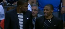 Kevin Durant et Russell Westbrook de retour à un entraînement limité