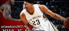 Les highlights d'Anthony Davis (25pts, 12 rebs, 6 contres) et Kobe Bryant (33 points)