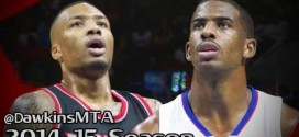 Les highlights du duel Chris Paul (22 points, 11 passes) – Damian Lillard (25 points, 8 passes)