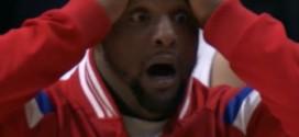 Insolite! la tête de Glen Davis lorsque les Suns repassent devant en prolongation