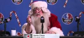 Insolite : quand le père Noël se prend pour Allen Iverson en conférence de presse