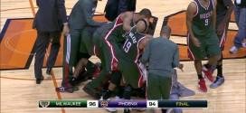 Khris Middleton crucifie les Suns au buzzer sur un shoot à trois points peu académique