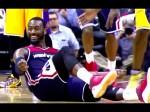 La danse de joie de John Wall suite à son panier à 3-pts avec la faute sur la tête de Kobe Bryant