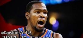 Le coup de chaud de Kevin Durant à 3-points et ses 30 points en 1ère mi-temps