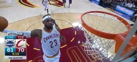 La «touchdwon pass» de Kevin Love pour le dunk de LeBron James