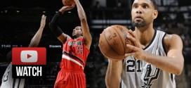 Les highlights du duel LaMarcus Aldridge – Tim Duncan: 32 points chacun