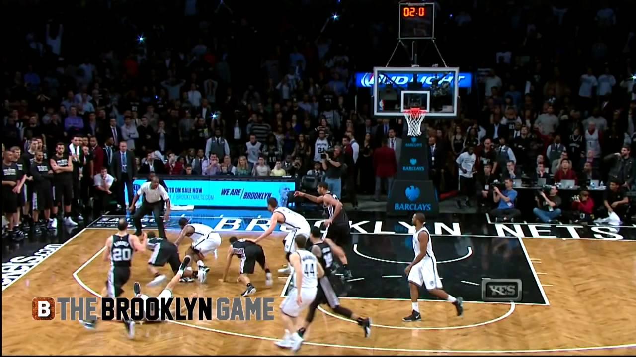Quand 6 joueurs se retrouvent à terre sur la dernière possession de Nets – Spurs