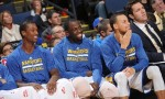 stephen curry, draymond green et harrison barnes
