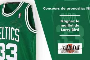 Concours de pronostics NBA de mars: un maillot de Larry Bird à gagner