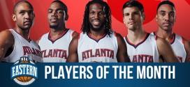 Première: les 5 titulaires des Hawks élus joueurs du mois de janvier