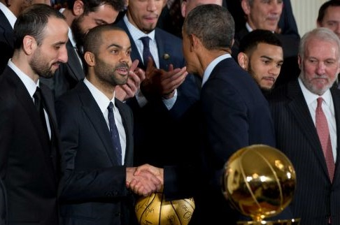 Barack Obama et TOny Parker