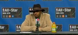 Carmelo Anthony sur le départ d'Amar'e Stoudemire: j'ai cru que c'était unbobard