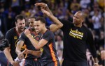 Stephen curry et Andre Iguodala et Marreese Speights