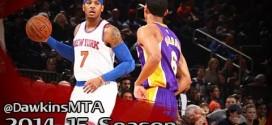 Les highlights de Carmelo Anthony face aux Lakers: 31 points dont 18 en troisième quart