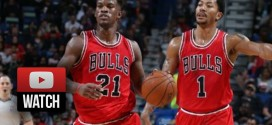 Les highlights du trio Derrick Rose (20 pts), Pau Gasol (20 pts, 15 rbds), Jimmy Butler (18 pts)