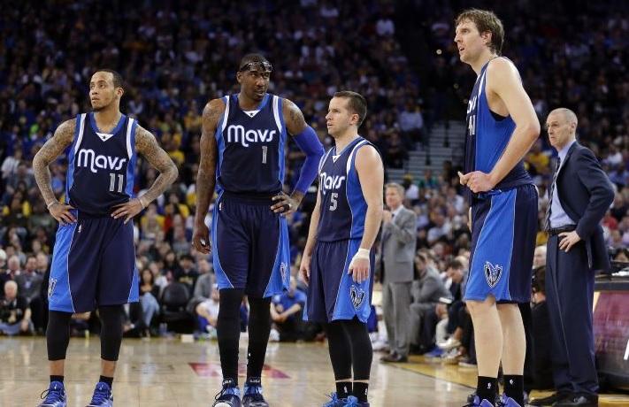 Dallas amvs monta ellis amar'e stoudemire, JJ Baea, Dirk Nowitzki
