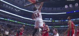Le dunk renversé de Joakim Noah