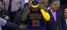 Le handshake LeBron James – Iman Shumpert
