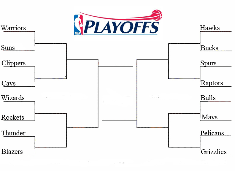 2015 Nba Playoffs Finals Printable Bracket Tv Schedules ...