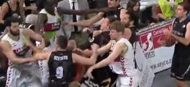 Vidéo: la bagarre générale lors du derby entre Bilbao et Laboral Kutxa Baskonia
