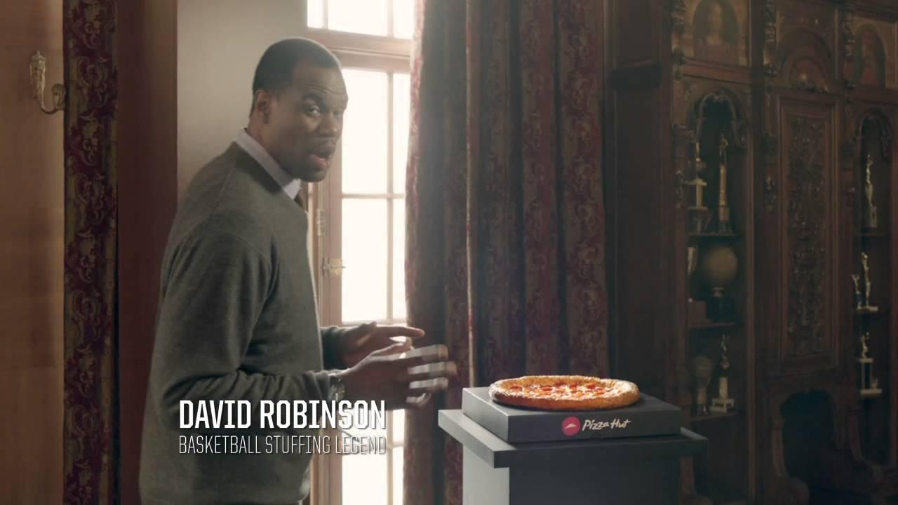 David Robinson dans une pub Pizza Hut