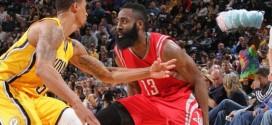Highlights : les 44 points et 7 passes de James Harden contre les Pacers