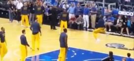 LeBron James et Iman Shumpert claquent des gros dunks à l'échauffement