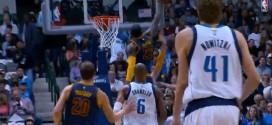 Le chase down block de LeBron James mène à la claquette de Timofey Mozgov