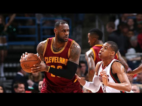 Les highlights du trio LeBron James (28 pts, 10 rbds, 6 asts), Jr Smith (23 pts), Kyrie Irving (20 pts, 7 asts)