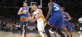 La superbe passe aveugle de Jeremy Lin pour le dunk de Wesley Johnson