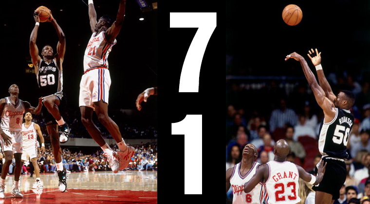 David Robinson 71 points