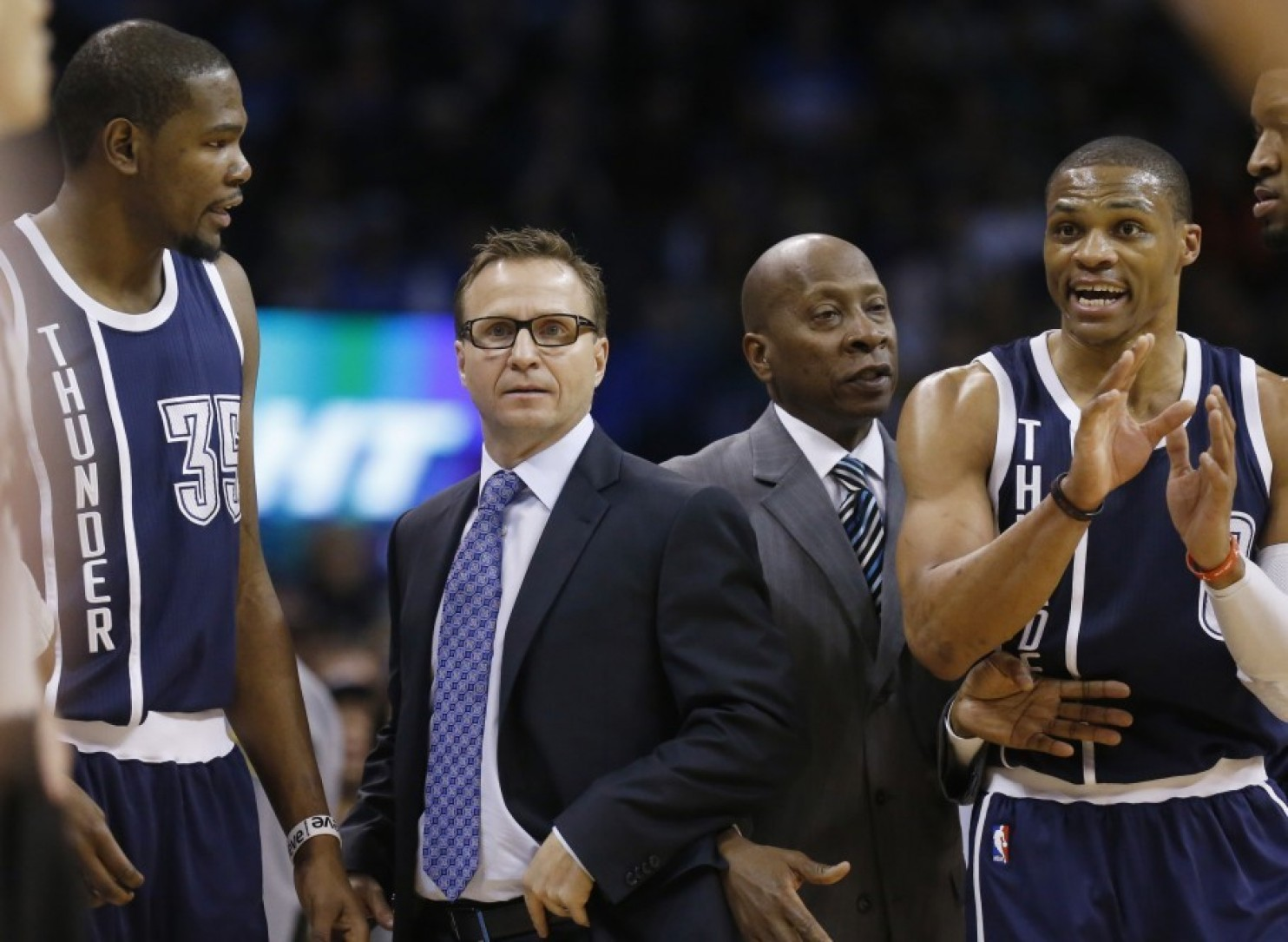 Kevin durant Scott Brooks et Russell Westbrook
