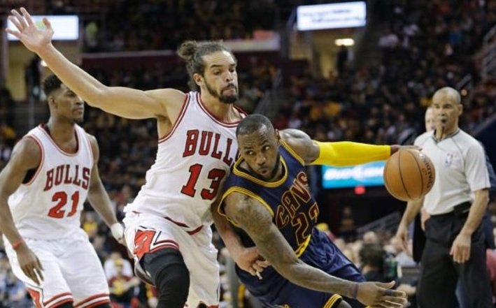 LeBron James et Joakim Noah