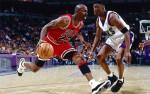 Michael Jordan et Vin Baker