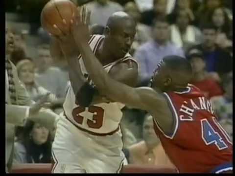 Michael Jordan face à Calbert Cheaney