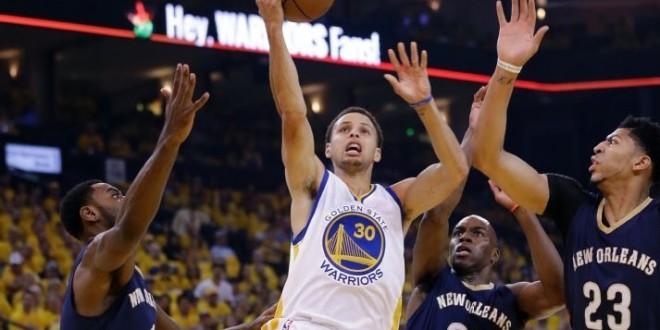 Stephen Curry et lesWarriorsassurent l'essentiel face aux Pelicans
