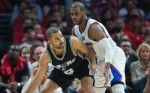 Tony Parker et Chris Paul Spurs Clippers