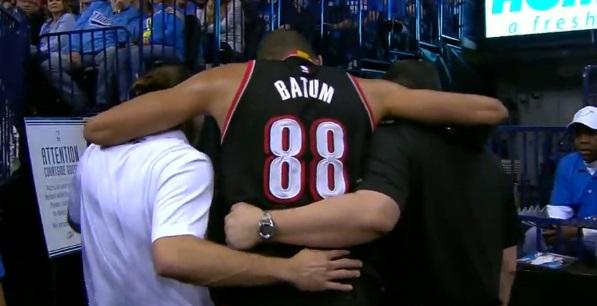 Nicolas Batum touché au genou à Oklahoma City
