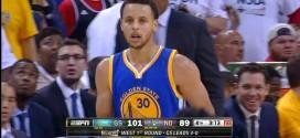Highlights : les 39 pts à 6/10 à 3-points, 8 rbds et 9 pds de Stephen Curry dans le match 4