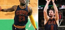 Les highlights de LeBron James (31 pts, 11 rbds) et Kevin Love (23 pts à 6/10 à 3-points) à Boston