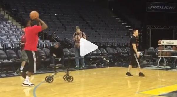 [Vidéo] Quelques shoots sur un pied pour Wesley Matthews