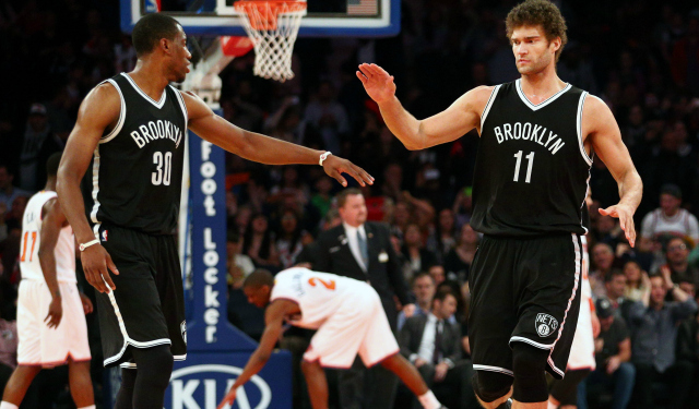 Brook Lopez et Thaddeus Young