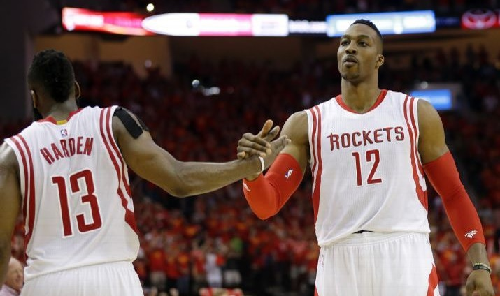 Dwight Howard et james harden rockets