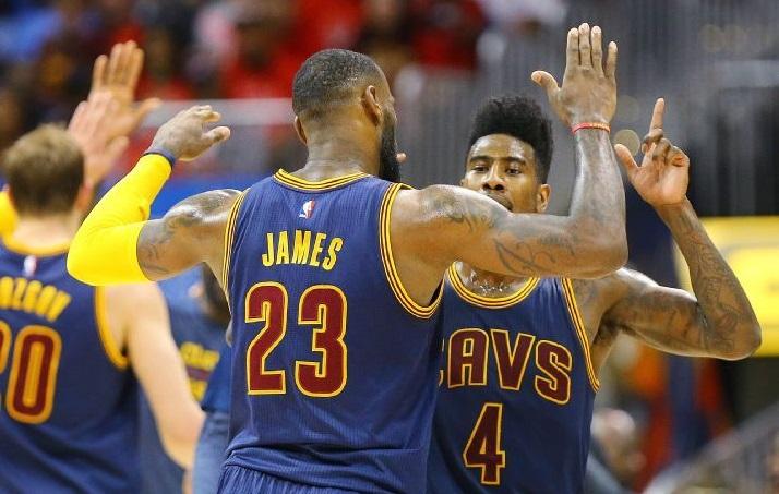 LeBron James et Iman Shumpet Cavaliers
