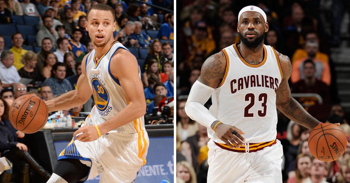 LeBron James et Stephen Curry