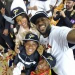 LeBron James selfie avec sa famille