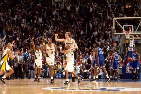Rik Smits buzzer beater pacers magic 1995