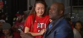 Quand Shaq fait fondre en larmes une fan des Hawks