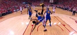 [Vidéo] La très violente chute de Stephen Curry