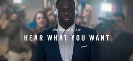 Draymond Green en guest star de la dernière publicitéBeats by Dre